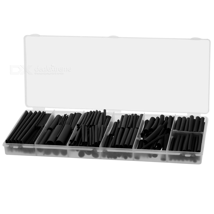1.0~12.0mm PE Heat Shrink Tube Tubing Sleeve Assortment Set (240PCS)