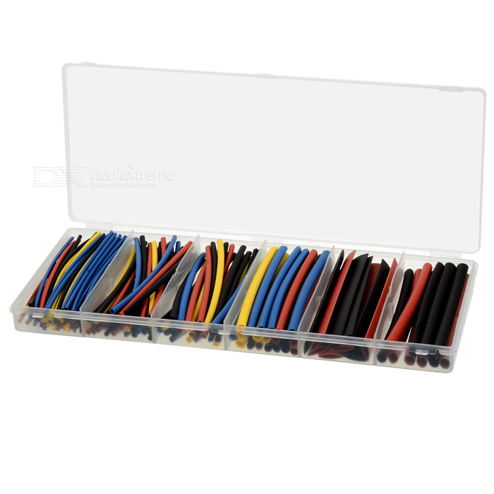 1.5 ~ 9.0mm PE heat shrink tubo tubulação sortimento conjunto (160PCS)