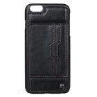 CaseMe Protective PU Leather Back Case Cover w/ Card Slot / Stand for IPHONE 6S PLUS - Black
