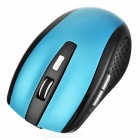 Wireless Bluetooth V2.0 Rechargeable Mouse - Azul + Preto
