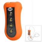 Outdoor Dustproof Waterproof Touch-Tone Back Clip-on 3.5mm MP3 Player w/ 4GB Memory / FM - Orange