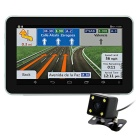 "7"" HD Android Car GPS Navigator 1080P DVR Radar Detector Rear View w/ Wi-Fi, AVIN, FM, 16GB, RU Map"