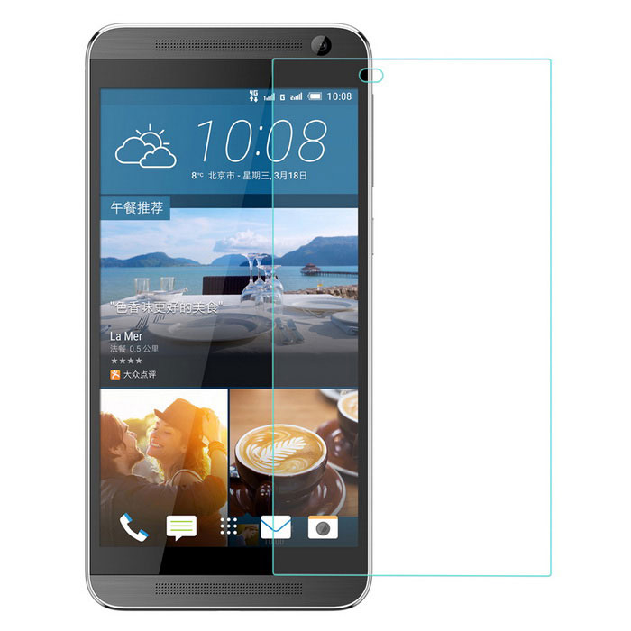 0.4mm Flat Edge Tempered Glass Screen Protector for HTC One E9+