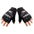 PRO-BIKER MCS-04F Motorcycle Racing Half-Finger Protective Gloves - Black (Size M / Pair)