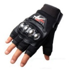 PRO-BIKER MCS-04F Motorcycle Half-Finger Gloves - Black (M / Pair)