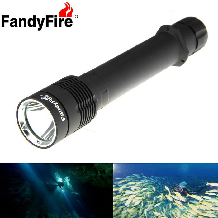 FandyFire XM-L2 U2 Cold White LED Diving / Land Lighting Flashlight