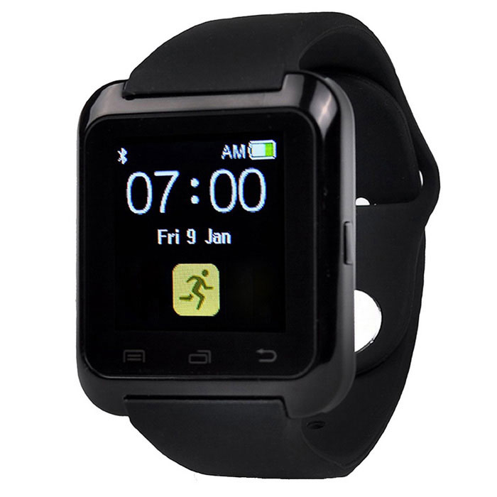 "Wearable 1.5"" Touch Screen Smart Watch w/ Bluetooth, Pedometer - Black"