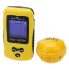 Wireless Portable Fish Finder Fishing Depth Sonar Sensor Alarm Transducer Color LCD Display