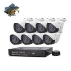 COTIER N8B/Kit-POE 8-CH POE NVR Kits 960P IP Camera Support POE P2P (8 PCS)