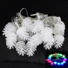 3W 20-LED RGB Lovely Pinecone Shape Decorative String Light - White (4m / AC85~265V / EU Plug)