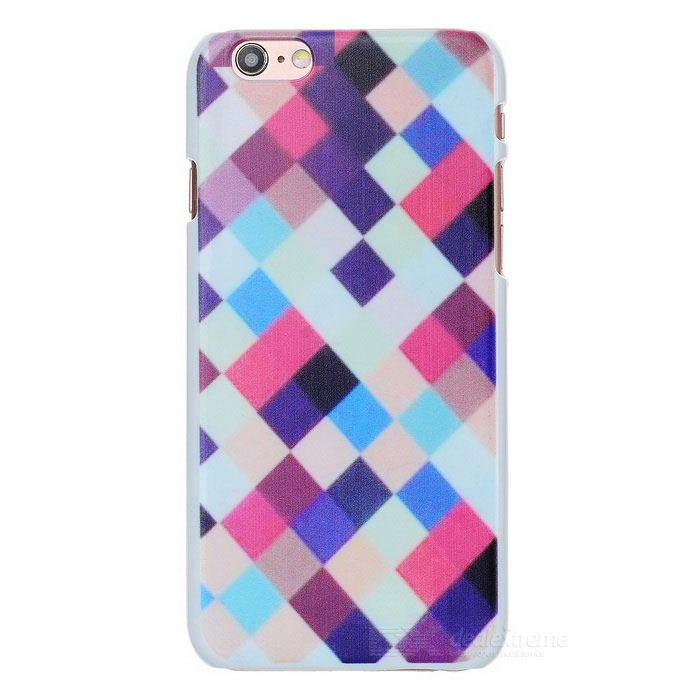 3D Grid Pattern Plastic Back Case for IPHONE 6 - Multicolor