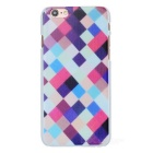 3D Grid Pattern Protective Plastic Back Case Cover for IPHONE 6 - Multi-Color