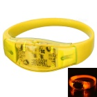 Men's Sports Armband / Leg Band Silicone Warning Light Bracelet - Light Yellow