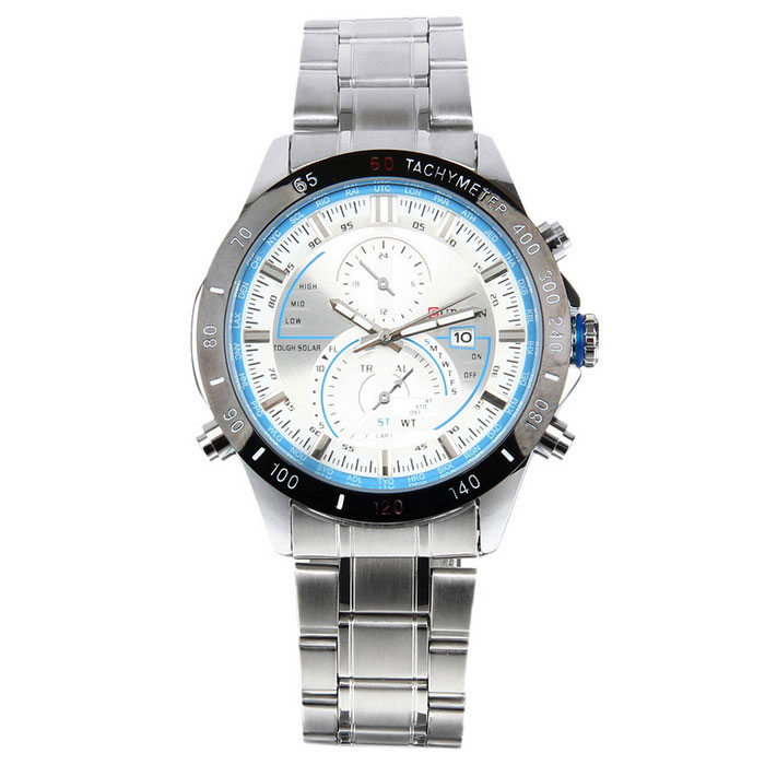 CURREN Mens Steel Band Waterproof Quartz Watch - Silver + WhiteQuartz Watches<br>Form  ColorSilver+WhiteModel8149Quantity1 DX.PCM.Model.AttributeModel.UnitShade Of ColorSilverCasing MaterialStainless steelWristband MaterialStainless steelSuitable forAdultsGenderMenStyleWrist WatchTypeFashion watchesDisplayAnalogMovementQuartzDisplay Format12 hour formatWater ResistantWater Resistant 3 ATM or 30 m. Suitable for everyday use. Splash/rain resistant. Not suitable for showering, bathing, swimming, snorkelling, water related work and fishing.Dial Diameter4.5 DX.PCM.Model.AttributeModel.UnitDial Thickness1.2 DX.PCM.Model.AttributeModel.UnitWristband Length25 DX.PCM.Model.AttributeModel.UnitBand Width2 DX.PCM.Model.AttributeModel.UnitBattery1 x LR626 battery (included)Packing List1 x Watch<br>