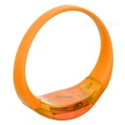 Men's Armband / Leg Band Silicone Warning Light Bracelet - Orange
