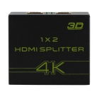 4K HDMI Splitter 1 x 2 Distributes to HDMI Display Converter (US Plugs)