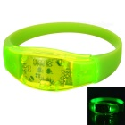 Men's Sports Armband / Leg Band Silicone Warning Light Bracelet - Green