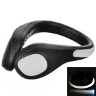 CTSmart Outdoor Sports White Light 2-Mode Safety Warning Shoes Wrist LED Light Clip - Black + White