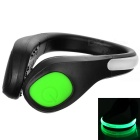 CTSmart Outdoor Sports Green Light 2-Mode Safety Warning Shoes Wrist LED Light Clip - Black + Green