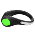 CTSmart Green Light 2-Mode Safety Warning Shoes LED Clip - Black+Green
