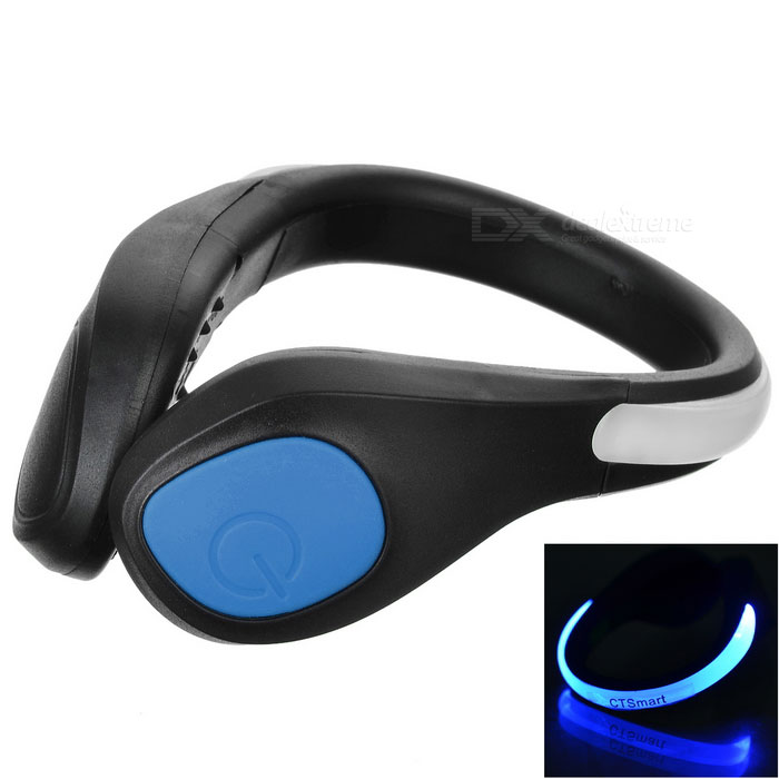 CTSmart Blue Light 2-mode säkerhetsskor Wrist LED Clip - Svart + Blå
