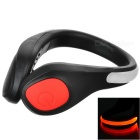 CTSmart Outdoor Sports Red Light 2-Mode Safety Warning Shoes Wrist LED Light Clip - Black + Red