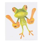 DQW-26 3D Frog Pattern PVC Car Decorative Decal Sticker - Green