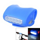 CTSmart Superbright Waterproof 3-Mode Red + White Light Bike Light - Blue (3 x AAA)