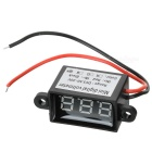 "Car Motorcycle Electromobile 2 Wires 3-Digit 1"" Yellow Light Digital Voltmeter"