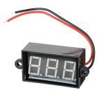 "Car Motorcycle Electromobile 2 Wires 3-Digit 1.7"" Red Light Digital Voltmeter (3.5~30V)"