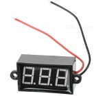 "Car Motorcycle Electrombile 2 Wires 3-Digit 3.5~30V 1.7"" Blue Light Digital Voltmeter"