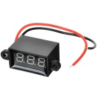 Car Motorcycle Electromobile 2 Wires 3-Digit Red Light Digital Voltmeter (3.5~30V)
