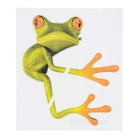 DQW-22 3D Frog Pattern PVC Car Decorative Decal Sticker - Green