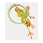 DQW-23 3D Frog Pattern PVC Car Decorative Decal Sticker - Green