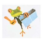 DQW-27 3D Frog Pattern PVC Car Decorative Decal Sticker - Green