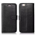 Protective PU Leather Flip Case Cover w/ Card Slots / Stand for IPHONE 6 / 6S - Black