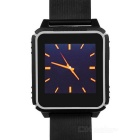 "W08 Waterproof Bluetooth V4.0 Silicone Watchband Smart Watch w/ 1.54"" LCD - Black"