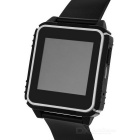 "W08 Waterproof BT Silicone Watchband Smart Watch w/ 1.54"" LCD - Black"