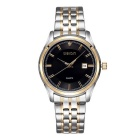 WeiQin Men's Stainless Steel Band Quartz Watch w/ Calendar - Black