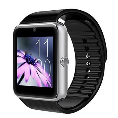 GT08 Touch Screen Bluetooth 3.0 Smart Watch for Android IOS – Silver