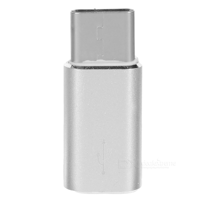 USB 3.1 Type C to Micro5pin Charging Data Adapter - Silver