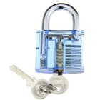 Slotted Transparent Skill Pratice Padlock Set - Blue