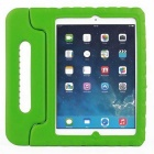 Portable Shockproof Protective Silicone Back Cover Case w/ Stand for IPAD Air - Green