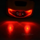 4-Mode 3-LED Cold White + Red Light Bike Headlamp / Taillight - Yellow