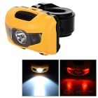 360' Rotating Waterproof 4-Mode 3-LED Cool White + Red Light Bike Headlamp / Taillight (3 x AAA)