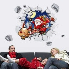 3D Santa Claus Style Beautiful PVC Wall Sticker