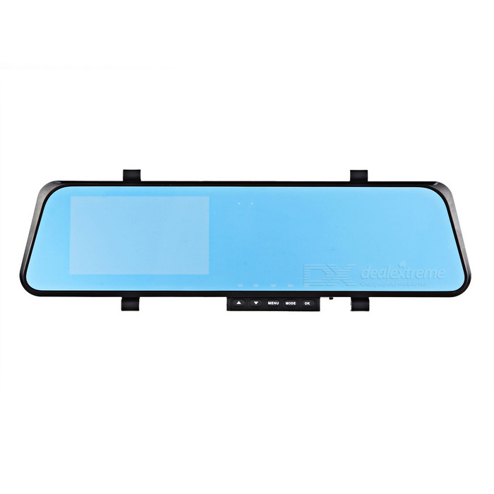 Espejo retrovisor del coche del registrador w / Slide Switch / 5.0MP cámara - Negro