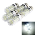 E27 10W 1000lm White Light 72-2835 SMD LED Corn Light Bulb (220~240V, 5 PCS)