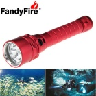 FandyFire 3 x L2 XM-L2 U2 3100lm LED Land & Diving Flahlight w/ 2 x 18650 Batteries / Charger - Red