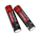 FandyFire 3 x L2 XM-L2 LED Diving Flashlight w/ Battery, Charger - Red